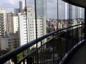 Fechamento de Sacada -  Cortina De Vidro Em Curitiba